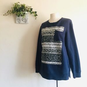 On The Byas • Tribal Graphic Pattern Sweatshirt